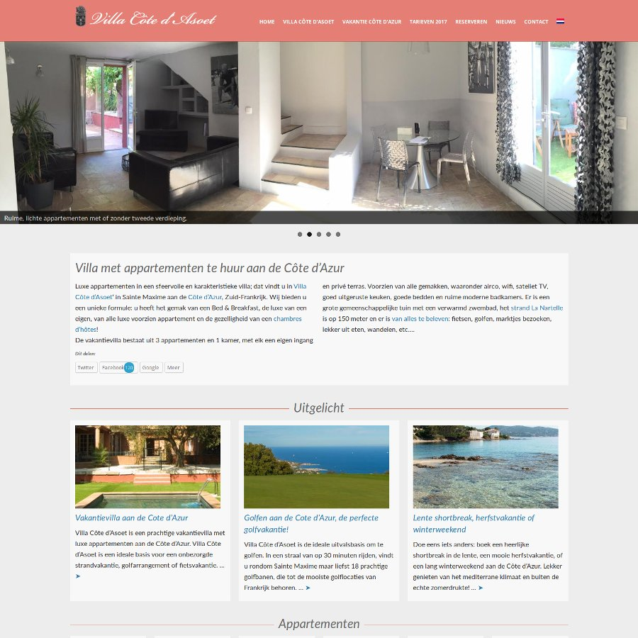 Website Villa cote da Soet